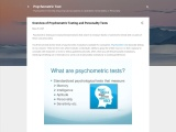 Overview of Psychometric Testing and Personality Tests
