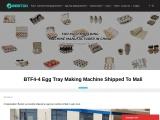 BTF4-4 Egg Tray Making Machine Shipped To Mali