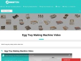 Egg Tray Making Machine Video For You