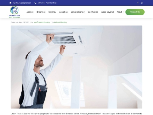 What is the advantage of hiring an air duct cleaning company in Texas?