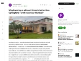 Why Investing in a Resort Home is better than Opting for a Farmhouse near Mumbai?