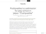 PUSHPVATIKA | Admission for play school in Jaipur