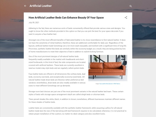 how artificial leather beds can enhance look