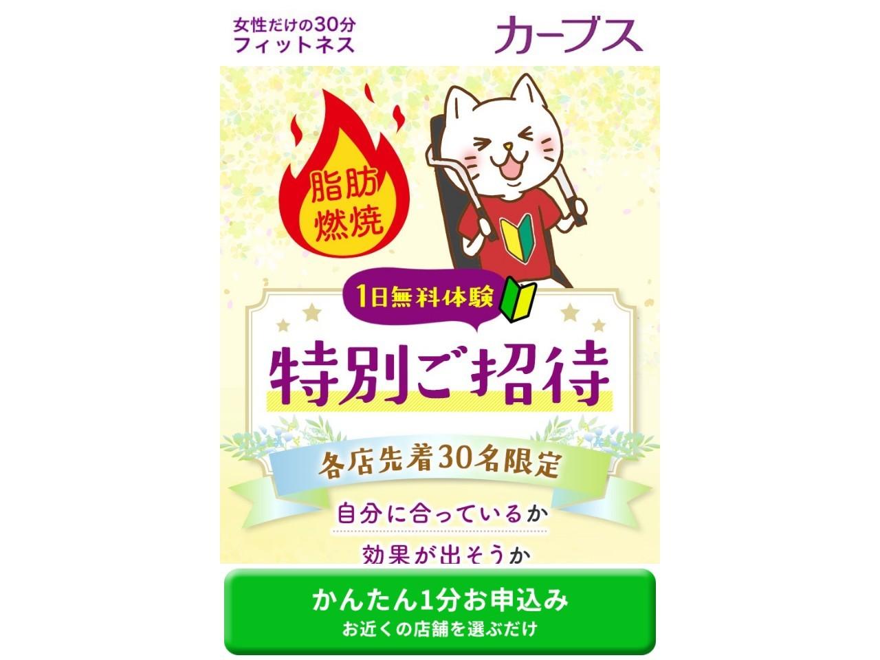 日本最大級の店舗数!女性専用フィットネス【CURVES】無料体験申込み