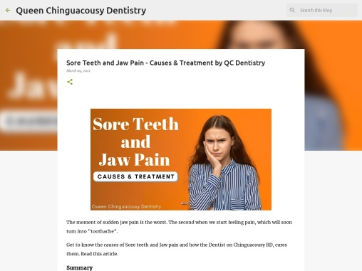 Sore Teeth and Jaw Pain – Causes & Treatment by QC Dentistry