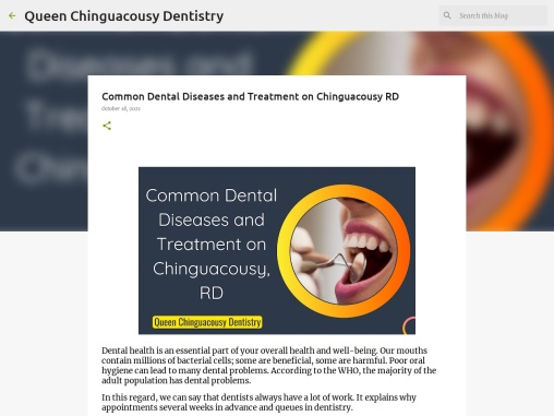 Common Dental Diseases and Treatment on Chinguacousy RD