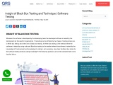 Insight of Black Box Testing and Technique   Software Testing