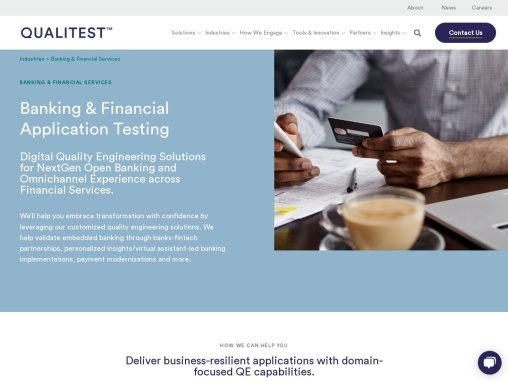 Banking Testing Consulting Services