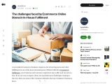 Ecommerce Online Stores in In-House Fulfilment