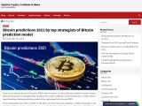 Bitcoin predictions 2021 by top strategists of Bitcoin prediction model