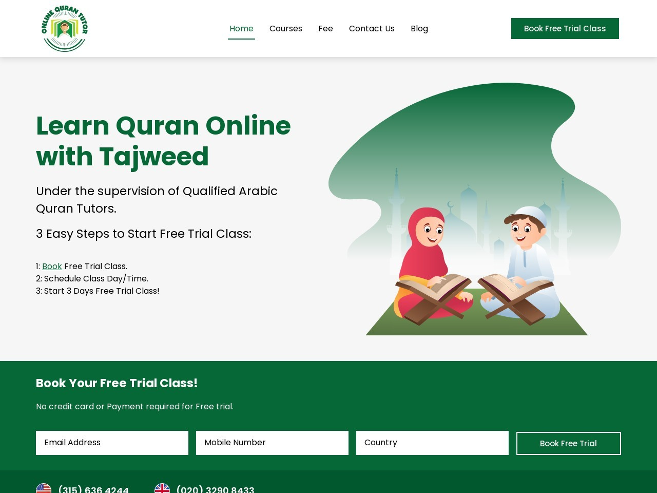 Online Learning Quran