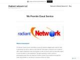 We Provide Cloud Service-Radiant network LLC