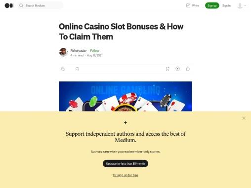 Online Casino Slot Bonuses & How To Claim Them