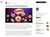 Top 10 Tips To Rise Online Bingo Payouts