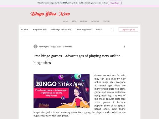 Free bingo games – Advantages of playing new online bingo sites