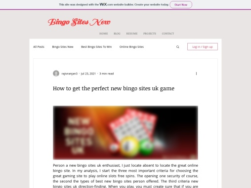 How to get the perfect new bingo sites uk game