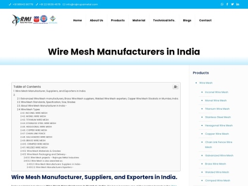 WIRE MESH MANUFACTURER IN INDIA