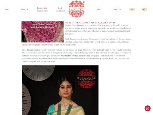 Dual tone colors and banarasi weaves