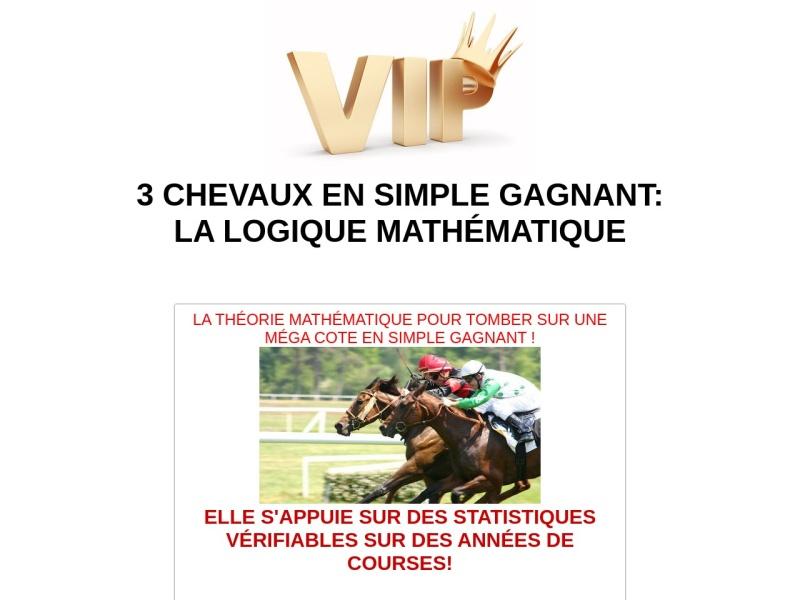 3 chevaux en simple gagnant