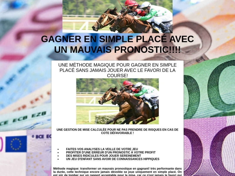 gagner en simple place