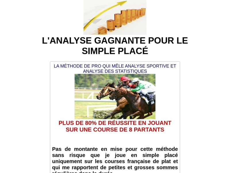 l'analyse gagnante pour le simple place