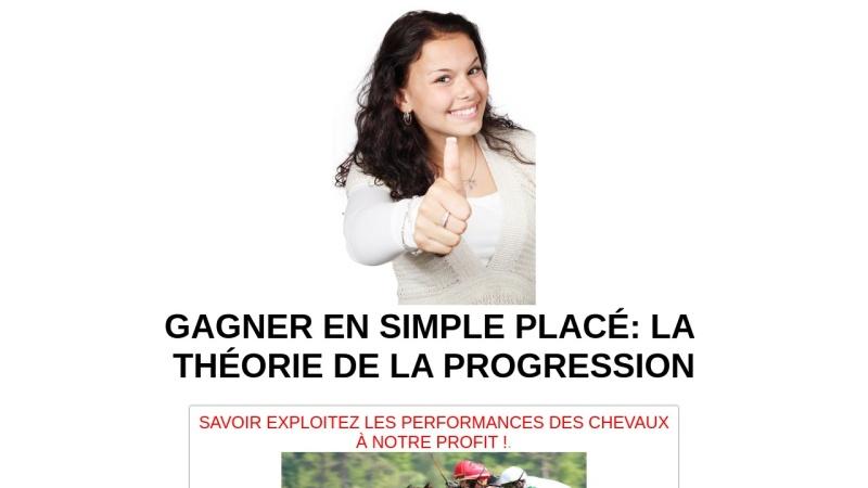 simple place la theorie de la progression