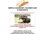 SIMPLE GAGNANT GAGNER SUR 5 PARTANTS