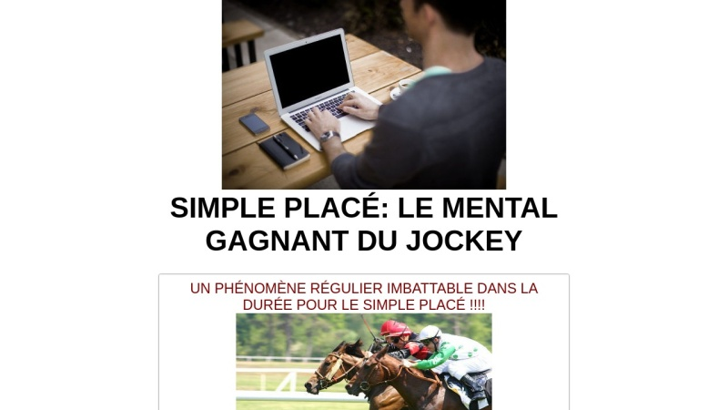 simple place le mental gagnant du jockey