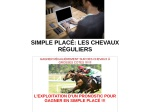 SIMPLE PLACE LES CHEVAUX REGULIERS