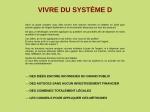 VIVRE DU SYSTEME D