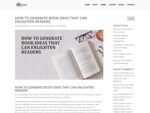 HOW TO GENERATE BOOK IDEAS THAT CAN ENLIGHTEN READERS