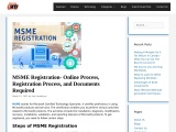 MSME Registration- Online Process, Registration Process, and Documents Required