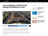 Top 4 Challenges of Multi-Family Roofing And Solutions to Them