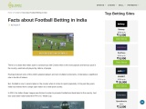 Learn Facts About the Football Betting In India