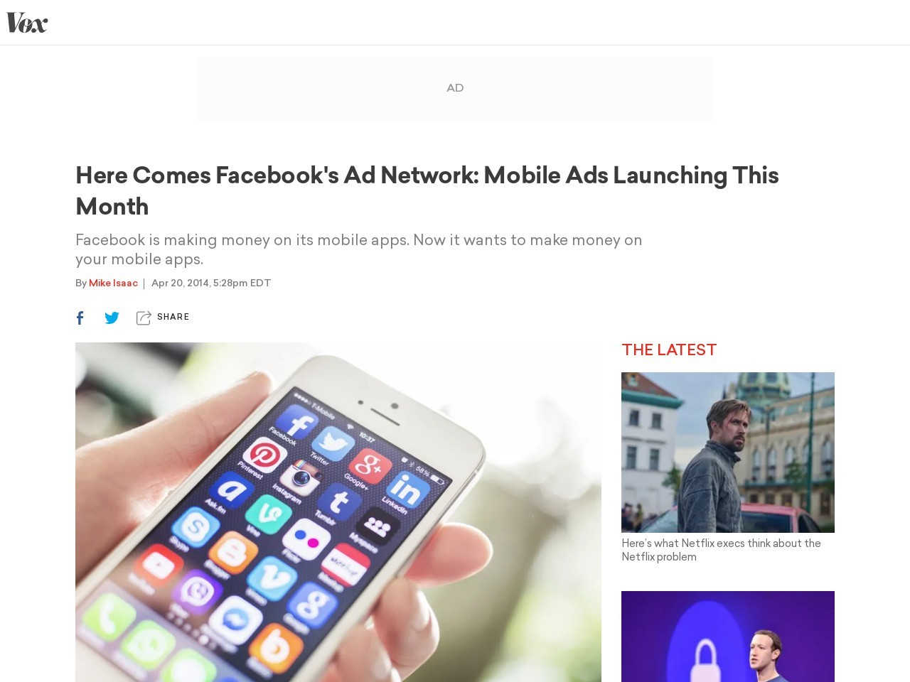 Here Comes Facebook's Ad Network: Mobile Ads Launching This Month