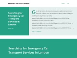 Searching for Emergency Car Transport Services in London