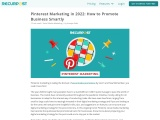 Pinterest Marketing in 2021: How to Promote Business Smartly