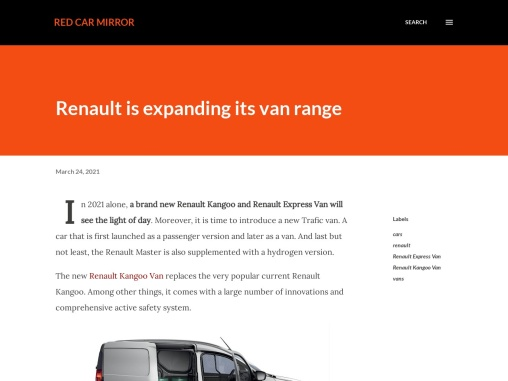 Renault is expanding its van models