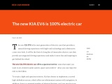 First pictures with the new Kia EV6 electric car