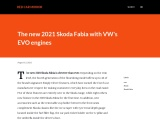 The new 2021 Skoda Fabia with EVO engines