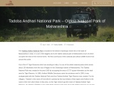 Tadoba Andhari National Park – Oldest National Park of Maharashtra