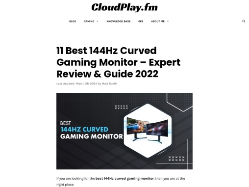 11 Best 144Hz Curved Gaming Monitor in 2021