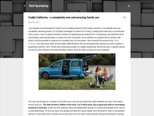 The new Caddy California is a great compact camper van