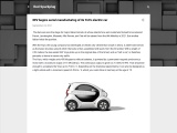 The XEV Yoyo electric car with replacement batteries