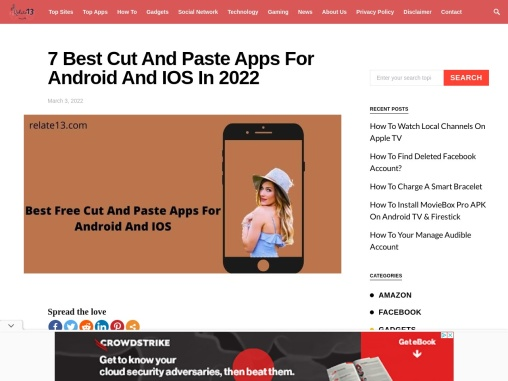 Best free Cut and paste app for android