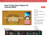 Game  pigeon app on android mobile