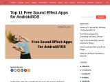 Free sound effect apps for android and ios