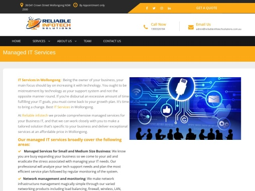 Managed IT Services | ReliableInfotechSolutions