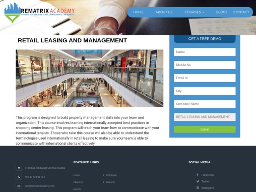 Retail Leasing   Rematrix Academy