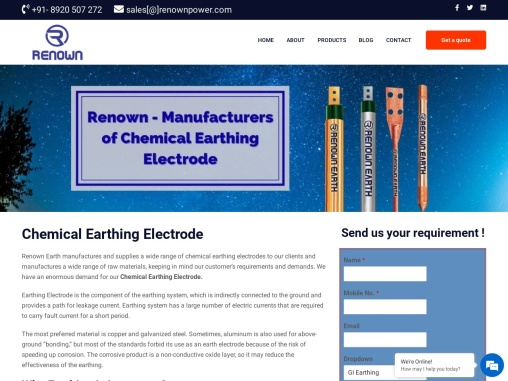 Chemical earthing electrode manufacturer